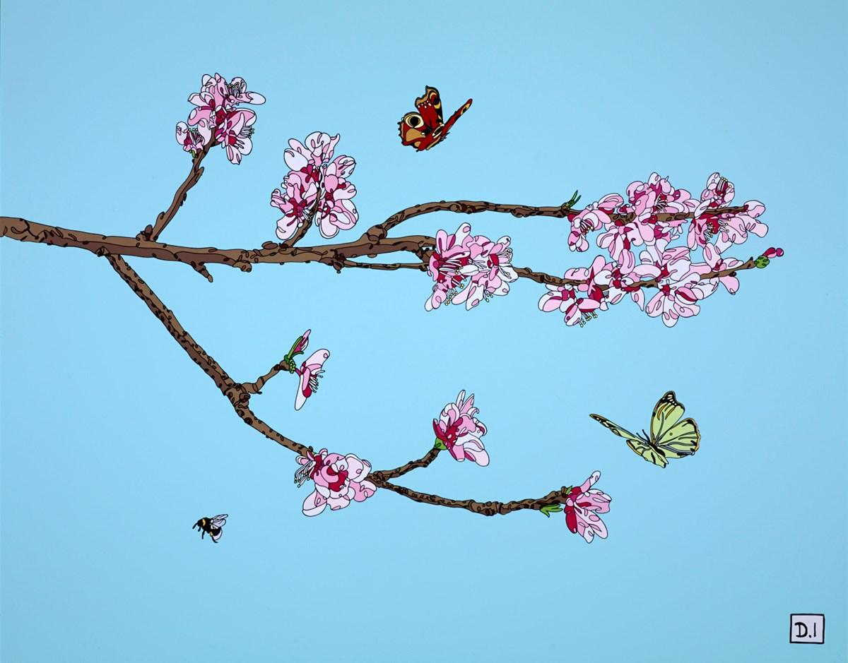 Peach Blossom and Butterflies